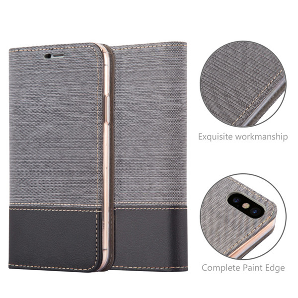 Jean Wallet Full Cover Leather For iPhone X