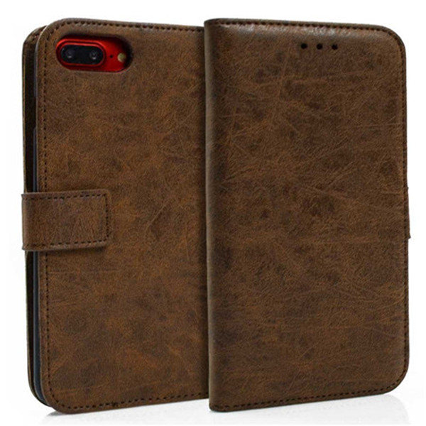 Second Layer Leather Stand Wallet Case for Iphone 8