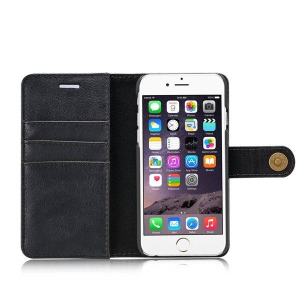 Second Layer leather Wallet Cases for iPhone 6 plus