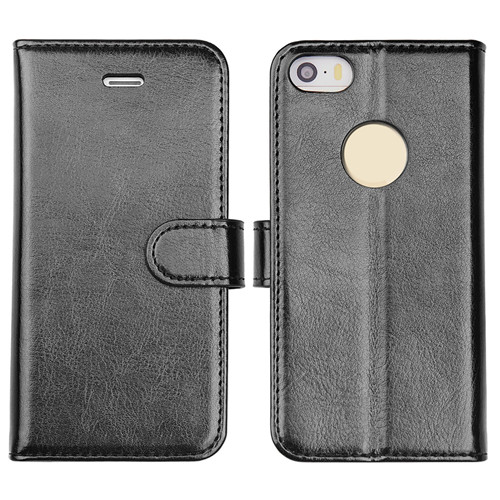 iPhone SE 2 Crystal Polish leather Wallet Case With Noble Black