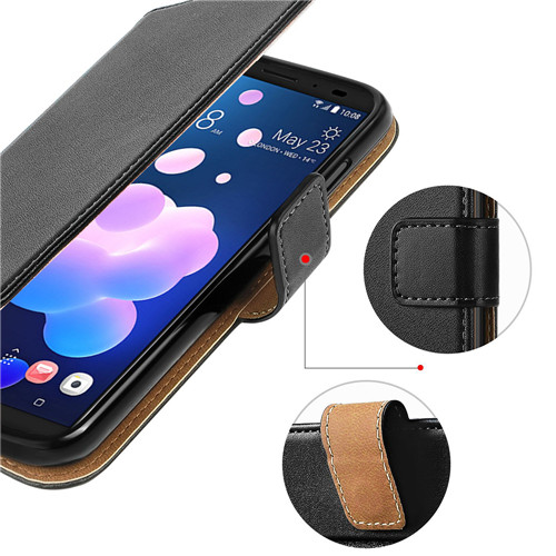 Factory Supreme Second-layered Leather Wallet Case For HTC U12 Plus