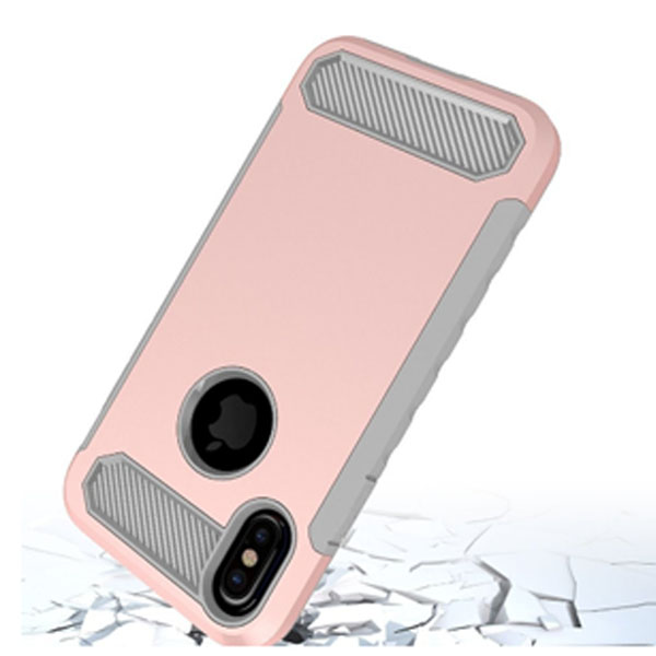 Shockproof Armor Case Carbon Fiber Case For Iphone X
