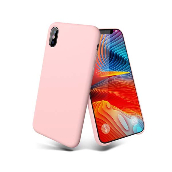 Thin slim liquid silicone mobile case for iphone x