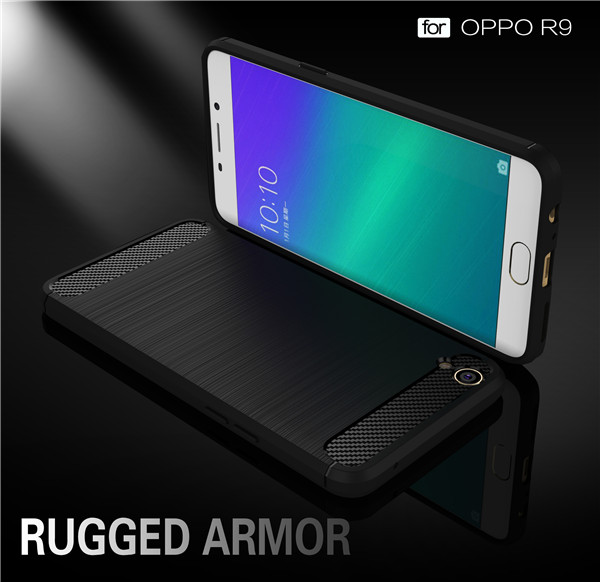 Amazing colors carbon fiber telephone case for OPPO R9
