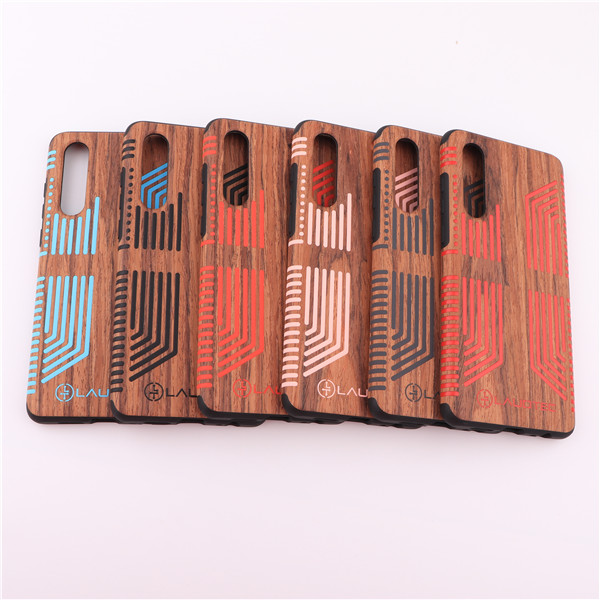 Laudtec fashinable real wood tpu cellphone case for Huawei P30