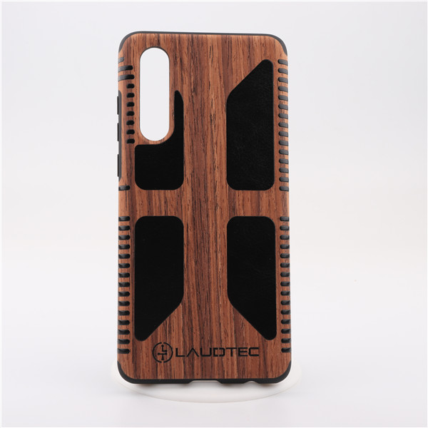 Laudtec Luxury real wood pu leather phone case for Huawei P30