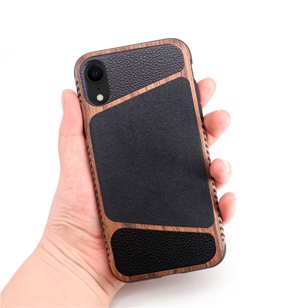 Laudtec luxury litchi leather cell case for iphone XR