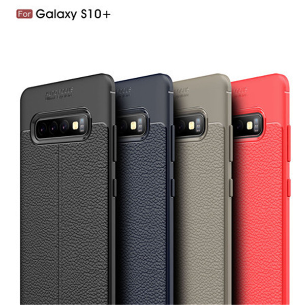 Laudtec premium litchi leather pattern cover for Samsung Galaxy S10 Plus