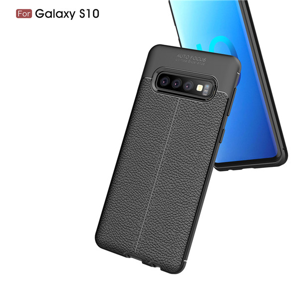 Laudtec luxury litchi leather mobile case for Samsung Galaxy S10
