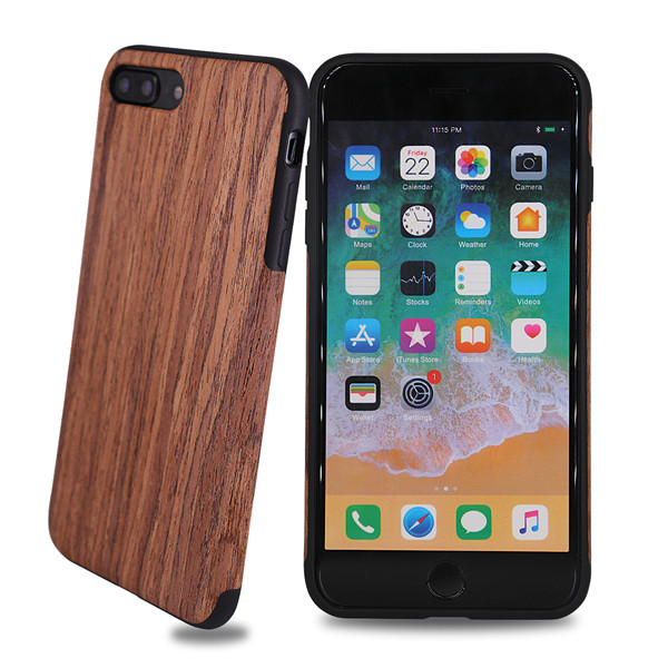 Real Natural Wooden Soft TPU Phone Case Cover For Iphone 7 Plus