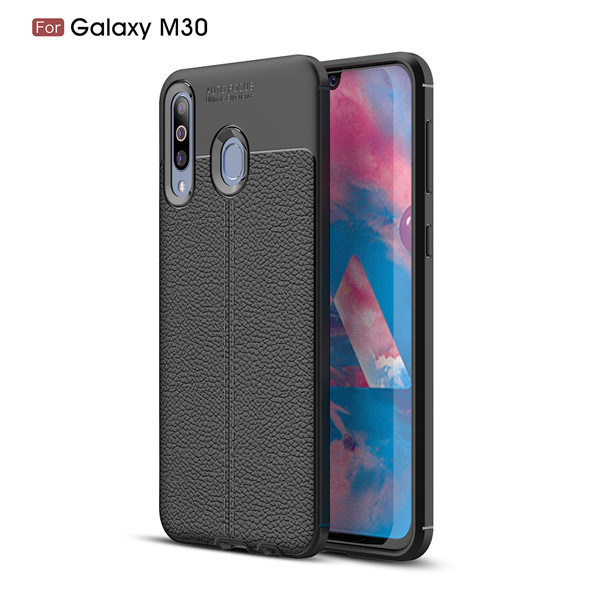 Luxury Lychee Pattern Texture Skin-friendly TPU Case For Samsung Galaxy M30