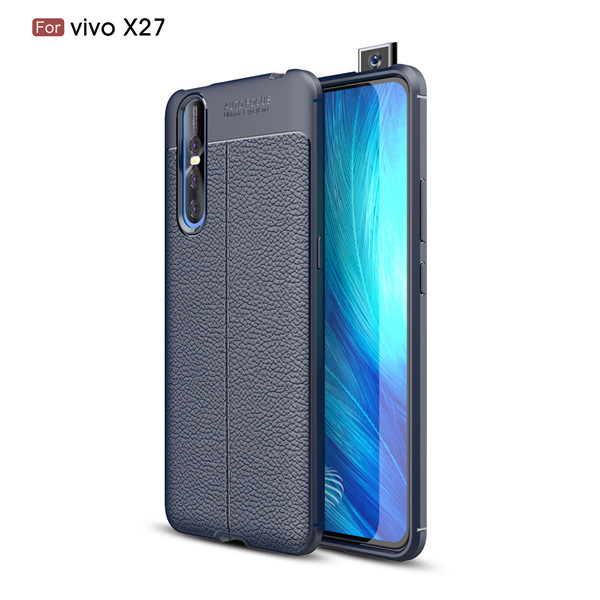 Classic Pattern Lichee Leather Wraped Phone Case For Vivo X27