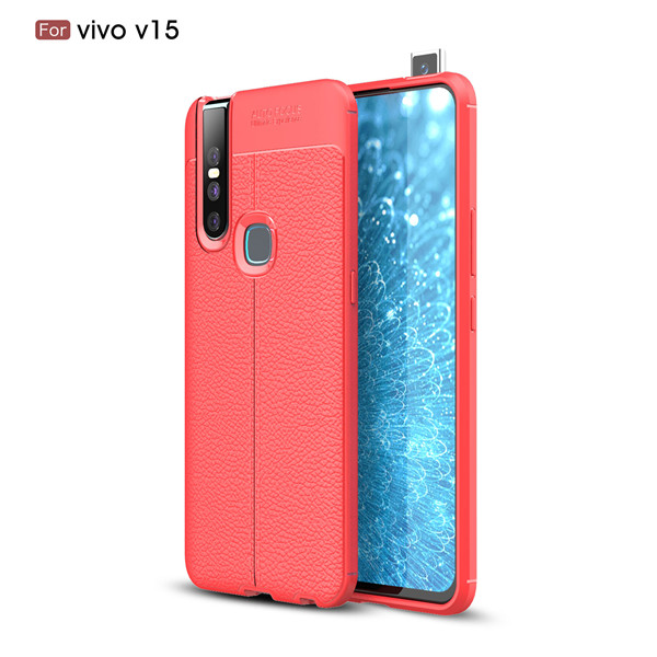 Classic Lychee Pattern Texture Skin-friendly TPU Case For Vivo V15