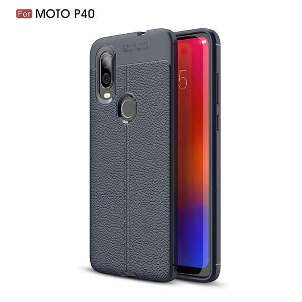 Lichee Pattern Anti-fall Protection Soft Leather Phone Case For Moto P40