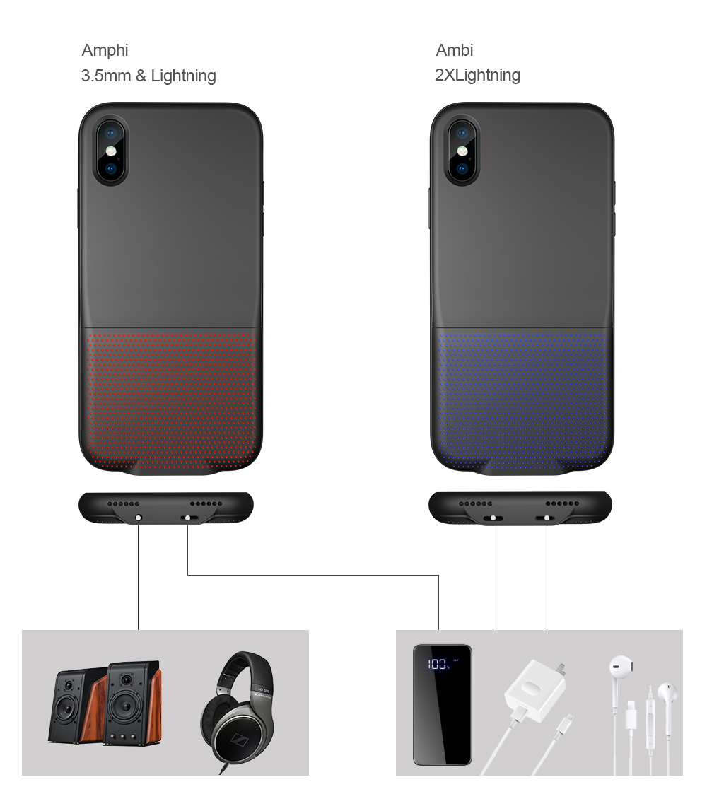 For iPhone X Audio Case Charging Music synchronous