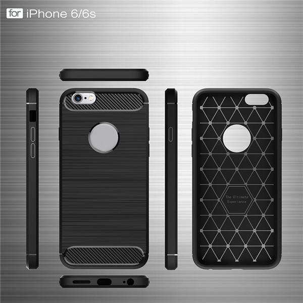 2019 new Carbon Fiber Soft Tpu Back Cover Phone Case For Iphone 6/6S Plus