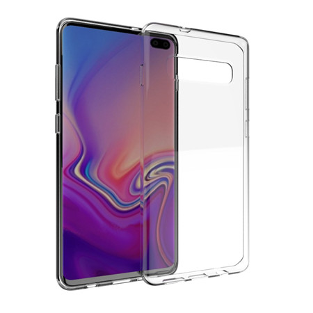 Glossy waterproof printed transparent case for Samsung Galaxy s10plus