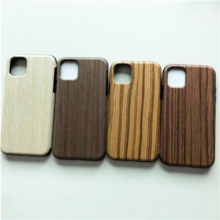 The phone case with wood texture use for iphone 11