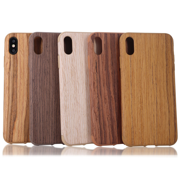 Walnut grain phone case use for iphone xs max