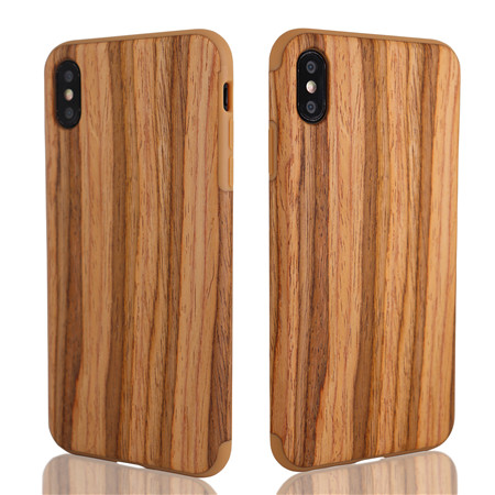 New wood-grain mobile phone case use for iphone xs max