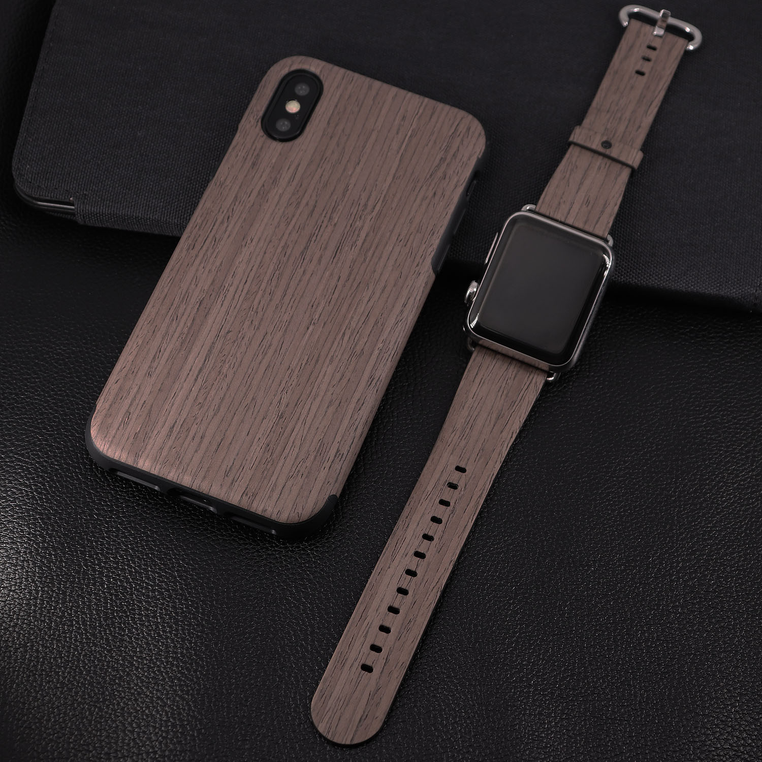 Apple watch band with phone case suit for iphone x
