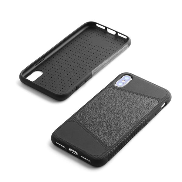 Premium soft black leather case use for iphone x