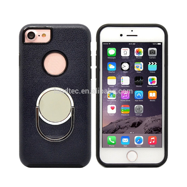 8 colors newest design Ring holder stand case for Iphone 7