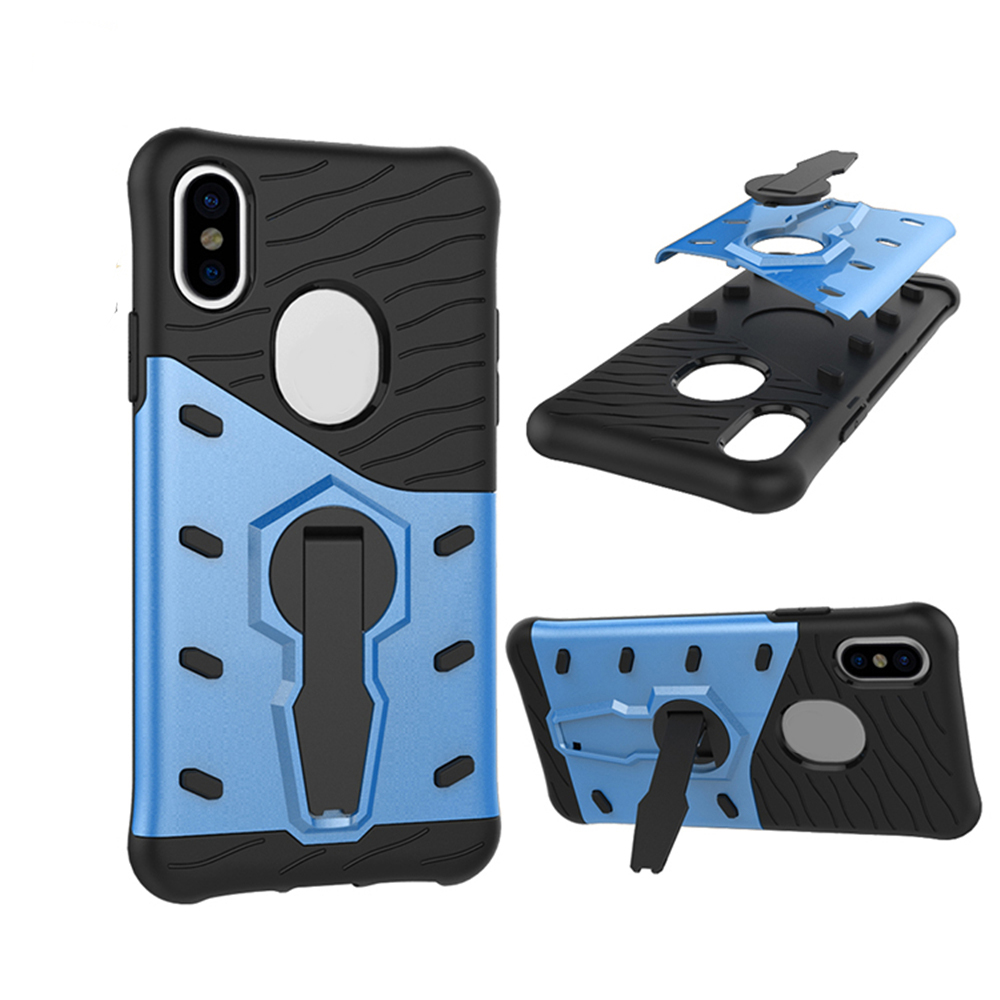 Rotate Stand 2 In 1 Armor Shockproof Hybrid PC&TPU Phone Cover For iPhonex Case