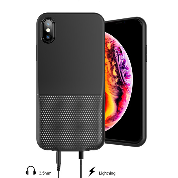 Audio phone case for iphone x listen to music and charge at the same time