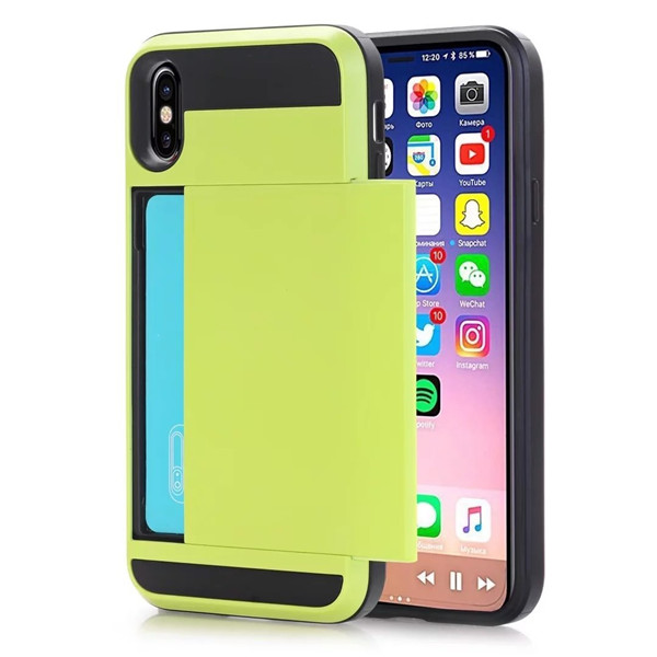 Card Slot Holder Phone Case Cover for iPhone 8