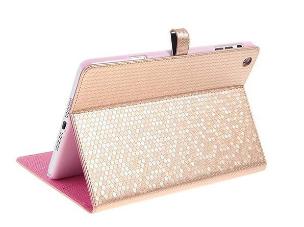 iPad Mini Diamond Texture Leather Case Smart Cover