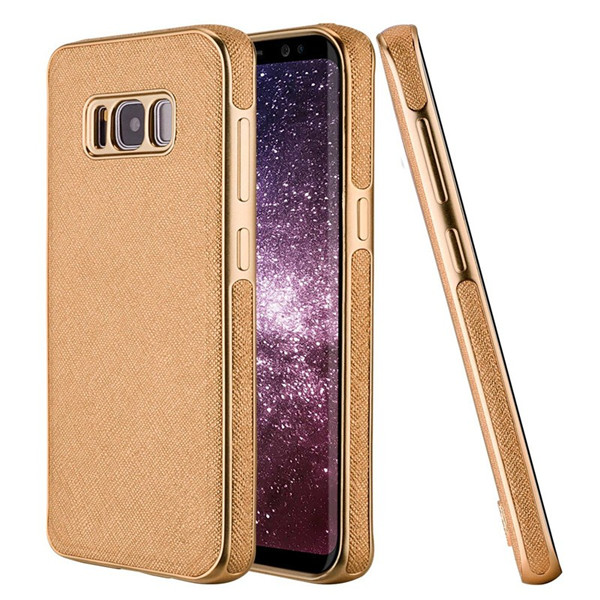 ​Luxury Leather Plating Cover Cell Phone Case for Samsung S8