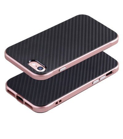 Metal frame and carbon fiber back cover for iphone 7