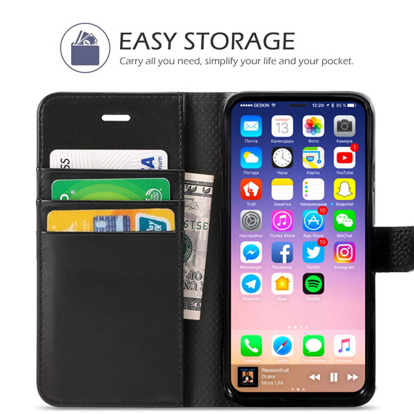 PU leather wallet protecting case for iPhone 8