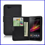 Sony xperia z1 compact  Leather Wallet Case