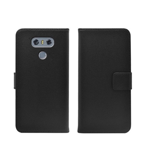 2017 hot selling leather flip case for LG G6