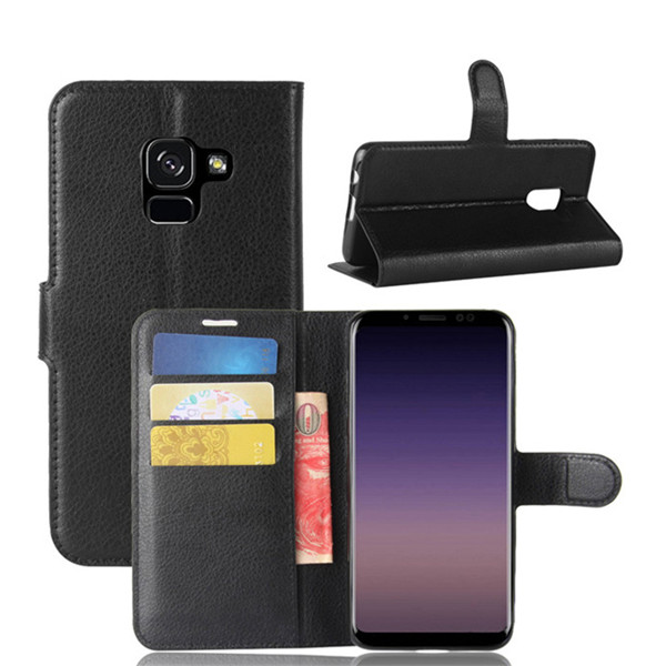 Flip leather cover card slots case for SamsungA8