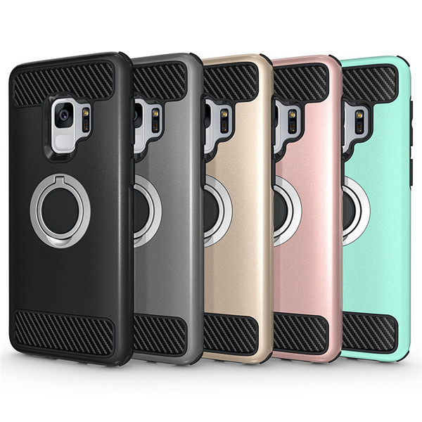 Shockproof car charger ring case for Samsung Galaxy S9