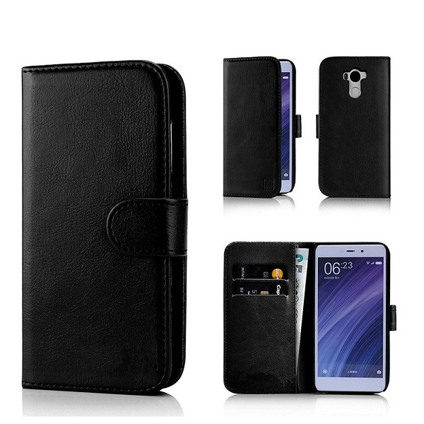 PU Leather Case Book Style Cover for Redmi 4