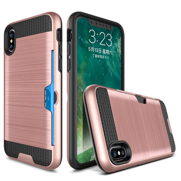 new arrival shockproof case for iphone 8 with credit card