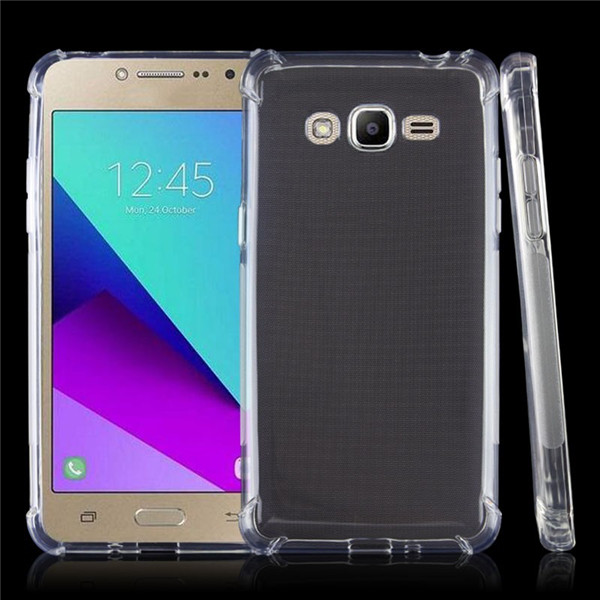 shockproof transparent tpu phone case for samsung galaxy J2 prime